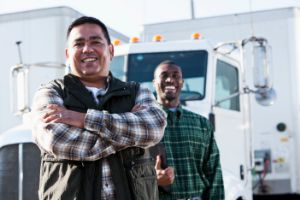 Truck Drivers Smiling